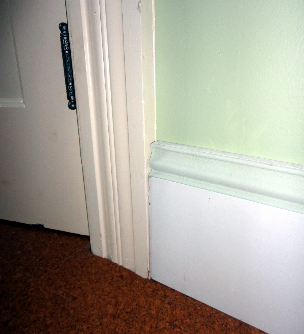 Making the baseboard trim the curtis home website for Baseboard and door trim