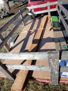 Cherry Lumber for bookshelves