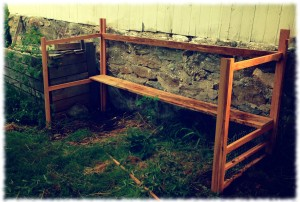 The first stages of building the chicken coop. I'm not sure this is the right way to go about it, but it seems to be working so far.
