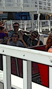 The boys and I on the Thunderbolt
