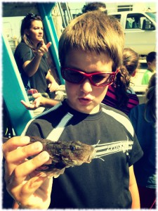 Will showing off a small sea robin.