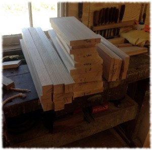 The lumber for the nightstands. I will mill the lumber for the drawers after the tables are built.