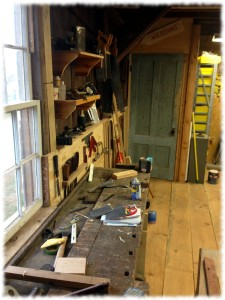 "A ""getting closer to clean"" workbench"