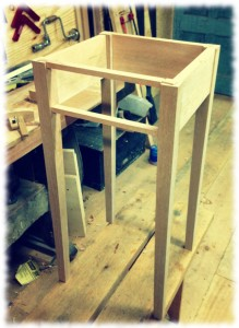 Table carcase assembled