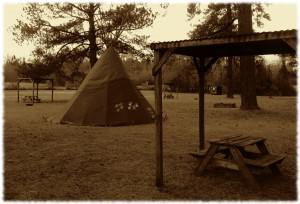 We spent the first night of our trip south in a tipi in North Carolina. We were travelling in style...