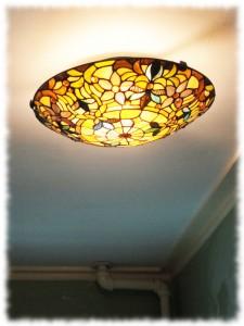 New hall light.