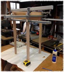 Glue up complete on the second nightstand.