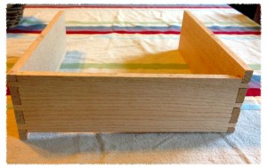 A problem with the drawer back. I should have been more careful cutting the dovetails.