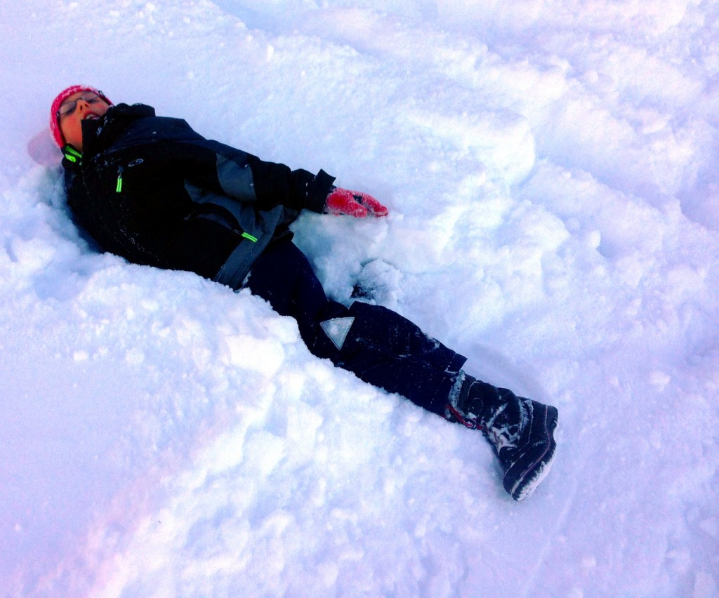 Ben enjoying the deep snow.