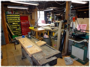 Workbench moved away from the back wall and rotated.