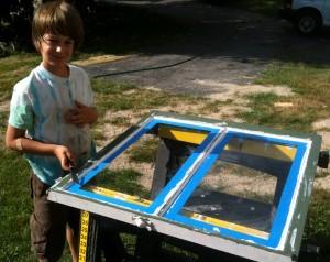 Will helping repair his broken window pane