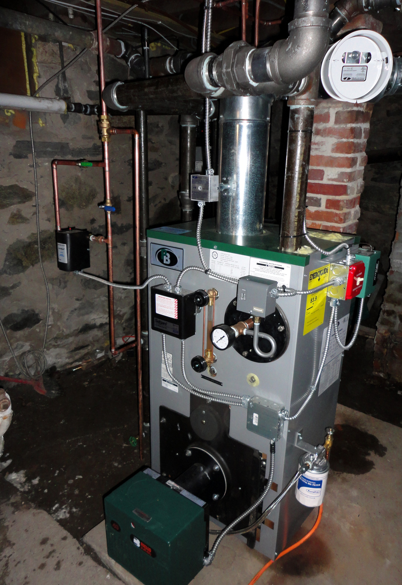 Steam Boiler Burnham Piping Diagram Tankless Water Heater Images Of