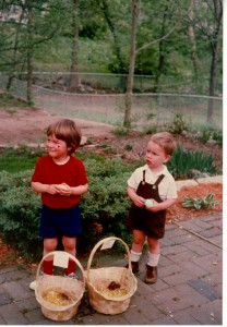 Bill and me. Easter 1976