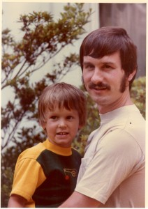 My dad and me. Picture from 1977 in Warrington Township, Bucks County,  PA