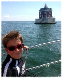 The view of New London Ledge Light.