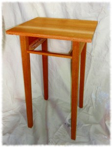 Nightstand with top attached.