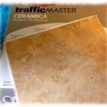 trafficMaster Ceramica self-stick tiles.
