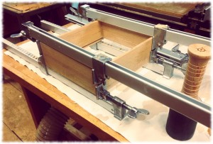 The drawer glue up. Finally.