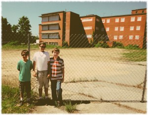 Will, Ben and Tyler at the former Norwich State Hospital property