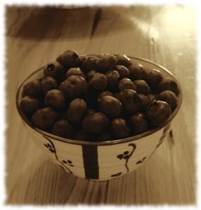 Blueberries fresh from the garden.