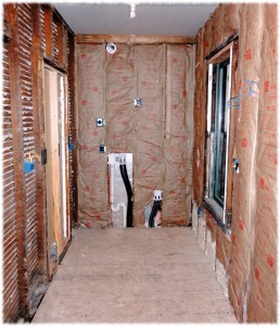 The laundry/mud room ready for drywall installation.