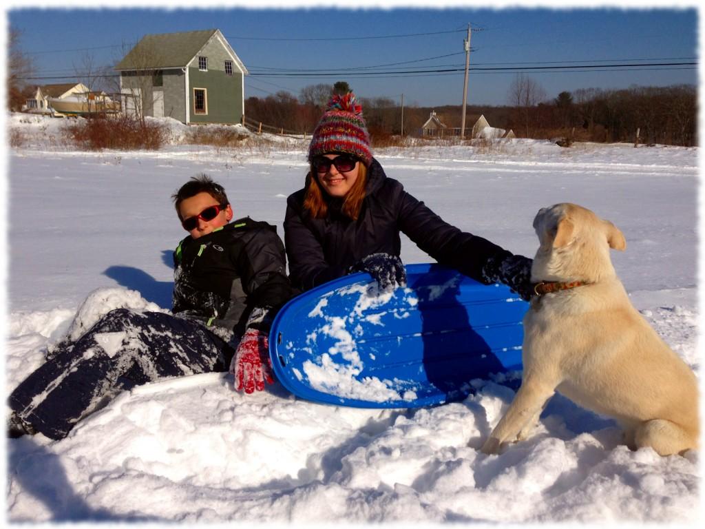 Susanna and Ben enjoying the snow