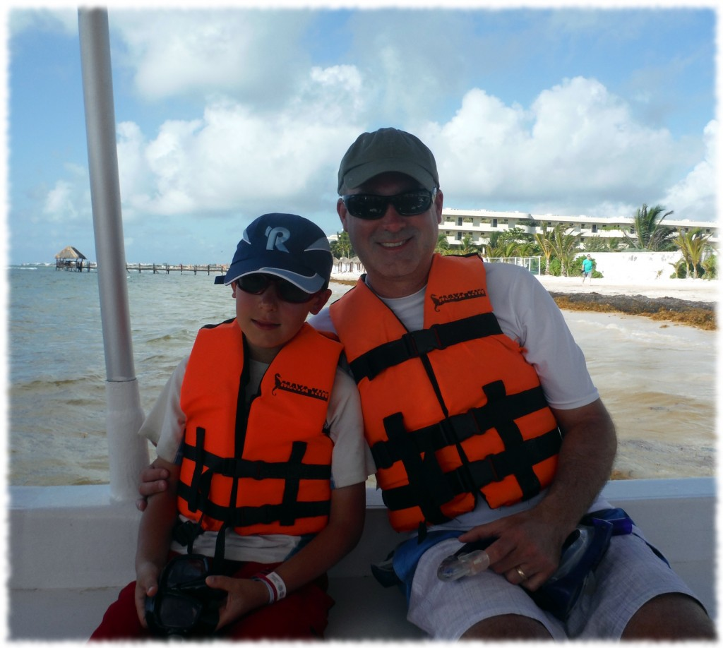 On Wednesday, Ben and I went on a snorkeling adventure for the morning. Here we are waiting to get underway out to the reef.