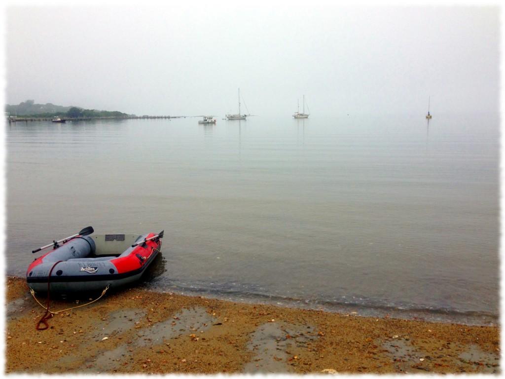 A foggy morning at East Harbor, Fishers Island, NY