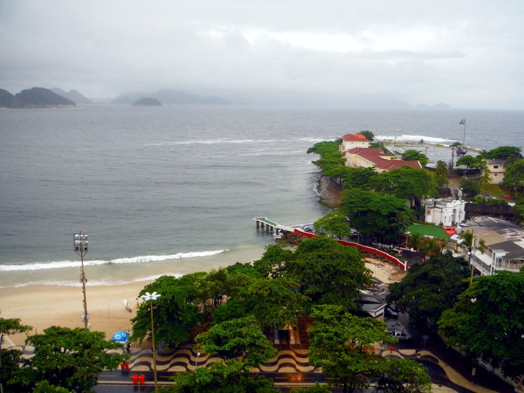 A rainy day in Copacabana after a long day at work