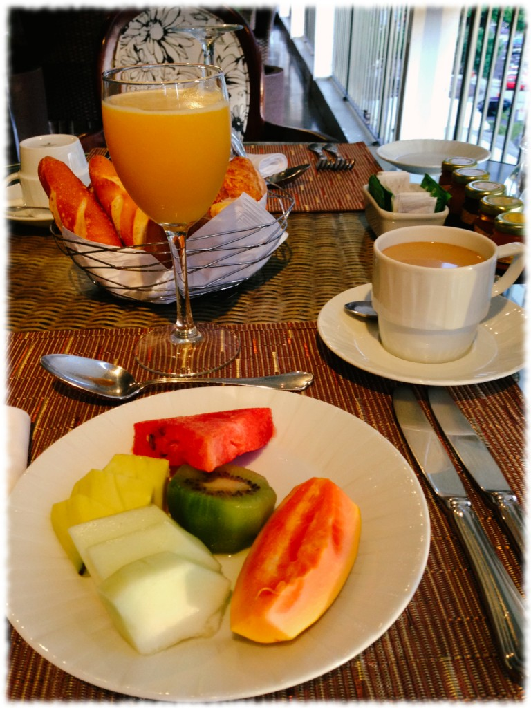 Breakfast at Sofitel Hotel - Rio de Janeiro