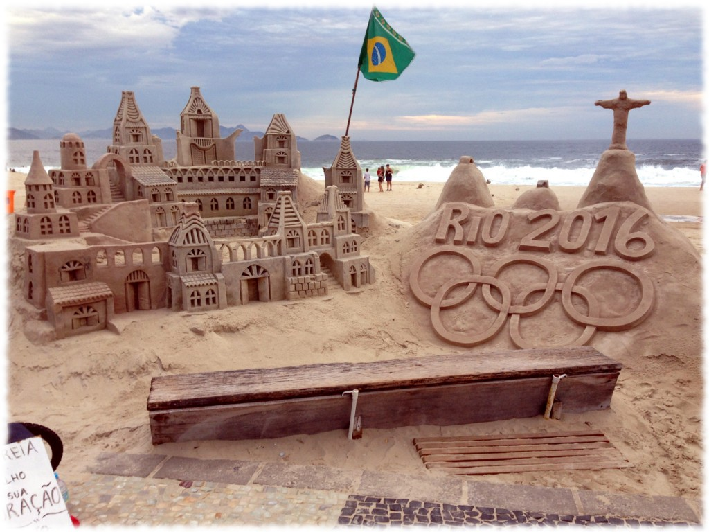 Sand sculpture, Copacabana beach