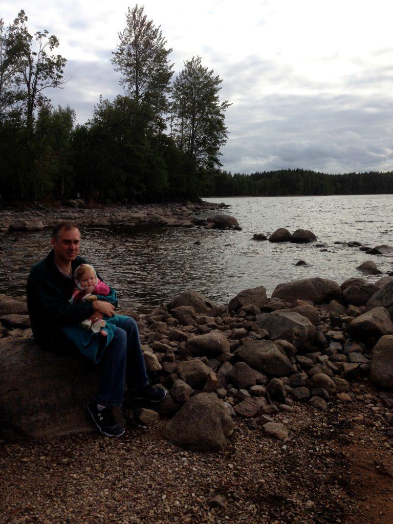 Enjoying the brisk Swedish evening on Alstern Lake, Sweden.