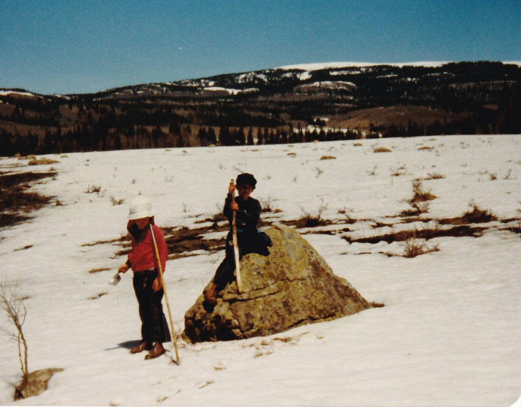 Bill and me in Colorado for a family vacation (1980-ish)